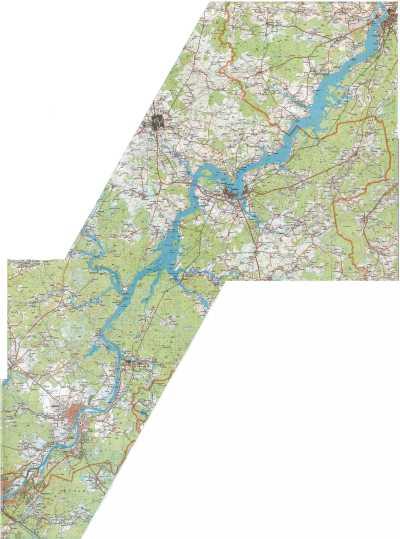 угличское водохранилище карта